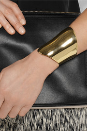 Maiyet Asymmetric gold-plated cuff