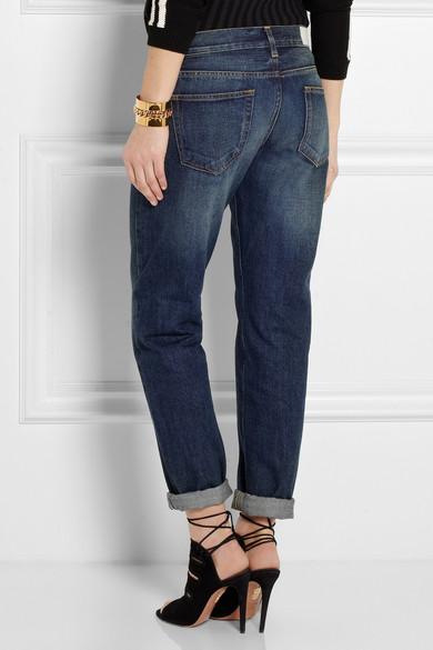 Victoria Beckham Denim. Mid-rise boyfriend jeans