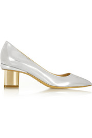 Nicholas Kirkwood Metallic leather pumps