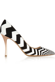 Nicholas Kirkwood Zigzag suede and leather pumps