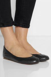 Lanvin Metal-heeled leather ballet flats