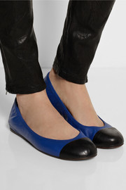Lanvin Two-tone leather ballet flats