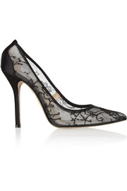 Bridget lace-mesh pumps