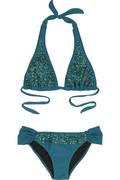 Tara Matthews Peacock halter bikini