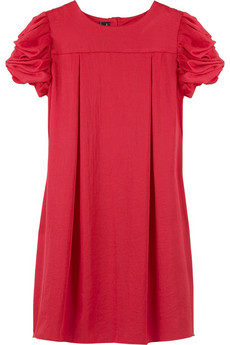 Pringle 1815 Satin ruched sleeve dress