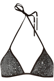 Agent Provocateur Zonia sequined triangle bikini top
