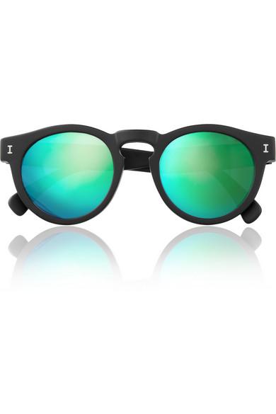 Illesteva Sunglasses  illesteva leonard mirrored round frame acetate sunglasses net