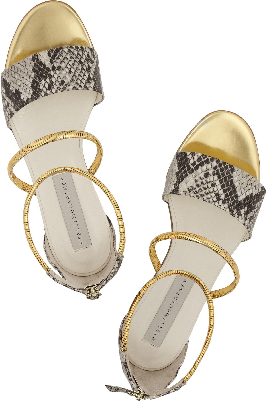 Stella McCartney Sandalen aus Kunstleder mit Schlangeneffekt