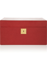 Smythson Mara textured-leather jewelry box