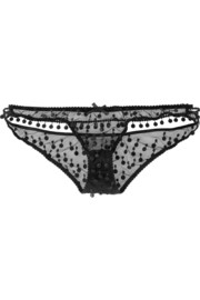 Agent Provocateur Bobbie embroidered tulle briefs