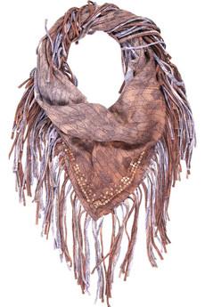 MajeFringed cotton scarf