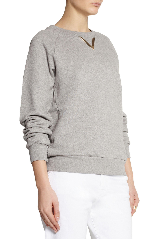 Sophie Hulme Verziertes Sweatshirt aus Baumwolljersey