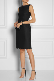 Lanvin Perforated scuba-jersey dress