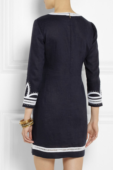74ab7b414f40 Tory Burch. Odelia embroidered linen tunic dress. £301. Play
