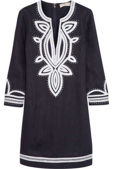 1cd633860cb6 Tory Burch. Odelia embroidered linen tunic dress