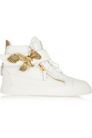 Giuseppe Zanotti London textured-leather high-top sneakers
