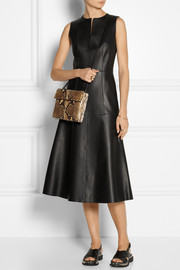 The Row Filpen paneled leather dress