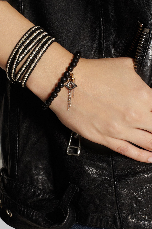Chan Luu Horn, diamond and gold-plated charm bracelet