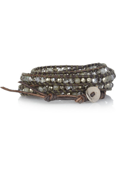 Chan Luu Labradorite Pyrite And Swarovski Crystal Five