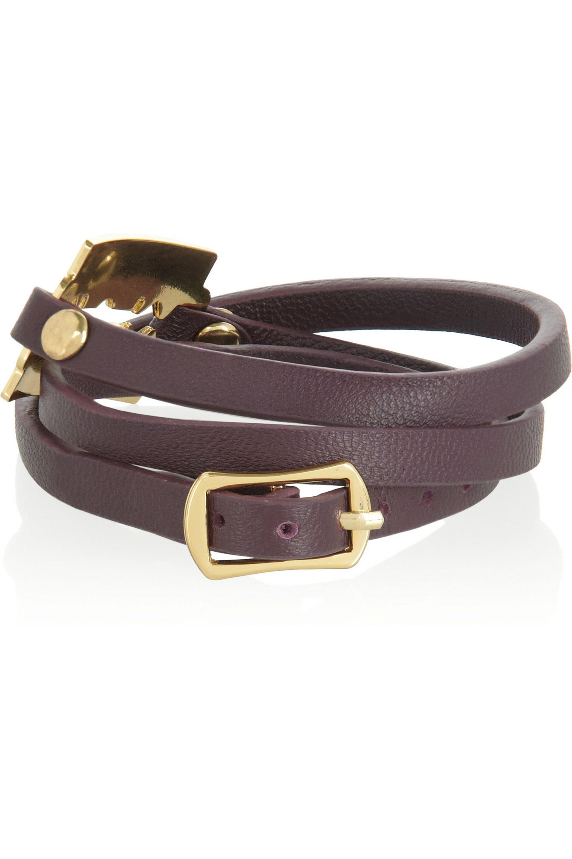 McQ Alexander McQueen Bracelet tour de poignet en cuir Razor
