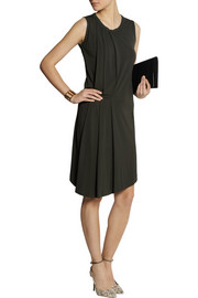 JosephAda pleated stretch-crepe dress
