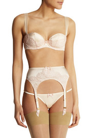Agent Provocateur Abbey lace-trimmed silk-blend satin push-up bra