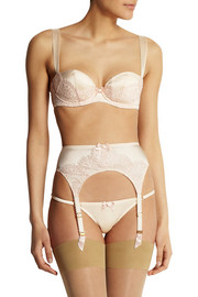 Agent Provocateur Abbey satin and lace briefs