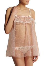 Agent Provocateur Ambrose Swiss-dot tulle chemise