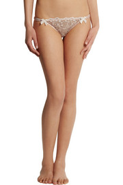 Agent Provocateur Ambrose Swiss-dot tulle briefs