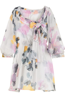 Moschino Cheap & Chic Silk chiffon floral blouse