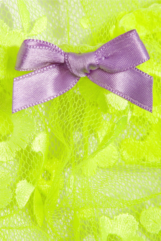 Agent Provocateur Brittnie neon embroidered tulle briefs