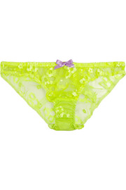 Agent Provocateur Brittnie neon embroidered tulle briefs