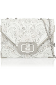 Marchesa Valentina embellished leather shoulder bag