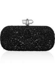 Marchesa Lily embellished mesh box clutch
