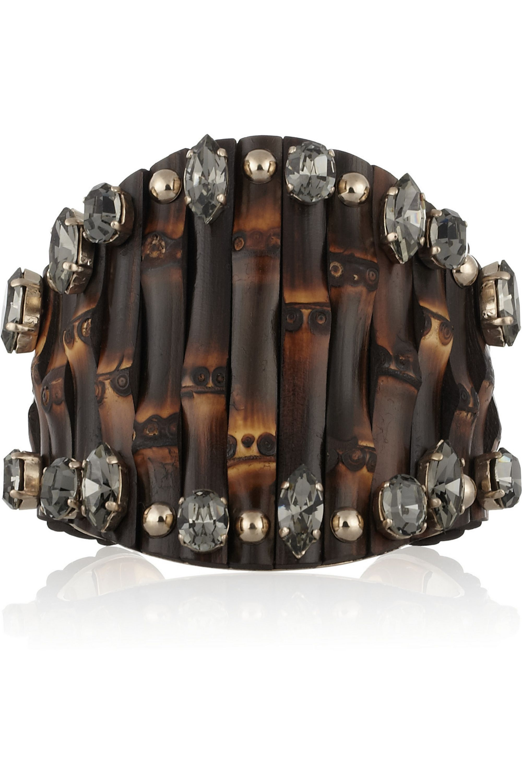 Gucci Embellished bamboo cuff