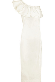 Designers Remix Collection Asymmetric papier gown  | NET-A-PORTER.COM from net-a-porter.com