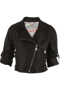 Doma Washed leather biker jacket | NET-A-PORTER.COM from net-a-porter.com