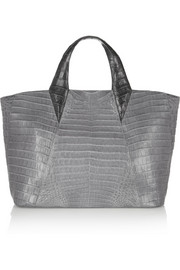 Nancy Gonzalez Two-tone crocodile tote