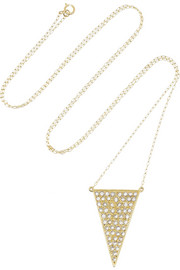 Halleh 18-karat gold diamond triangle necklace