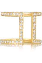 Halleh 18-karat gold diamond ring