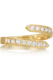 Pinky Twist 18-karat gold diamond ring