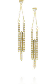 Halleh Empire 18-karat gold diamond earrings