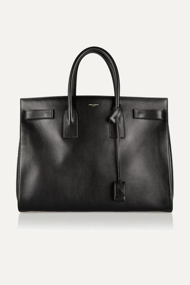 saint laurent female saint laurent sac de jour medium leather tote black
