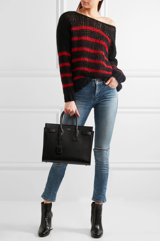Black Sac De Jour Small Leather Tote