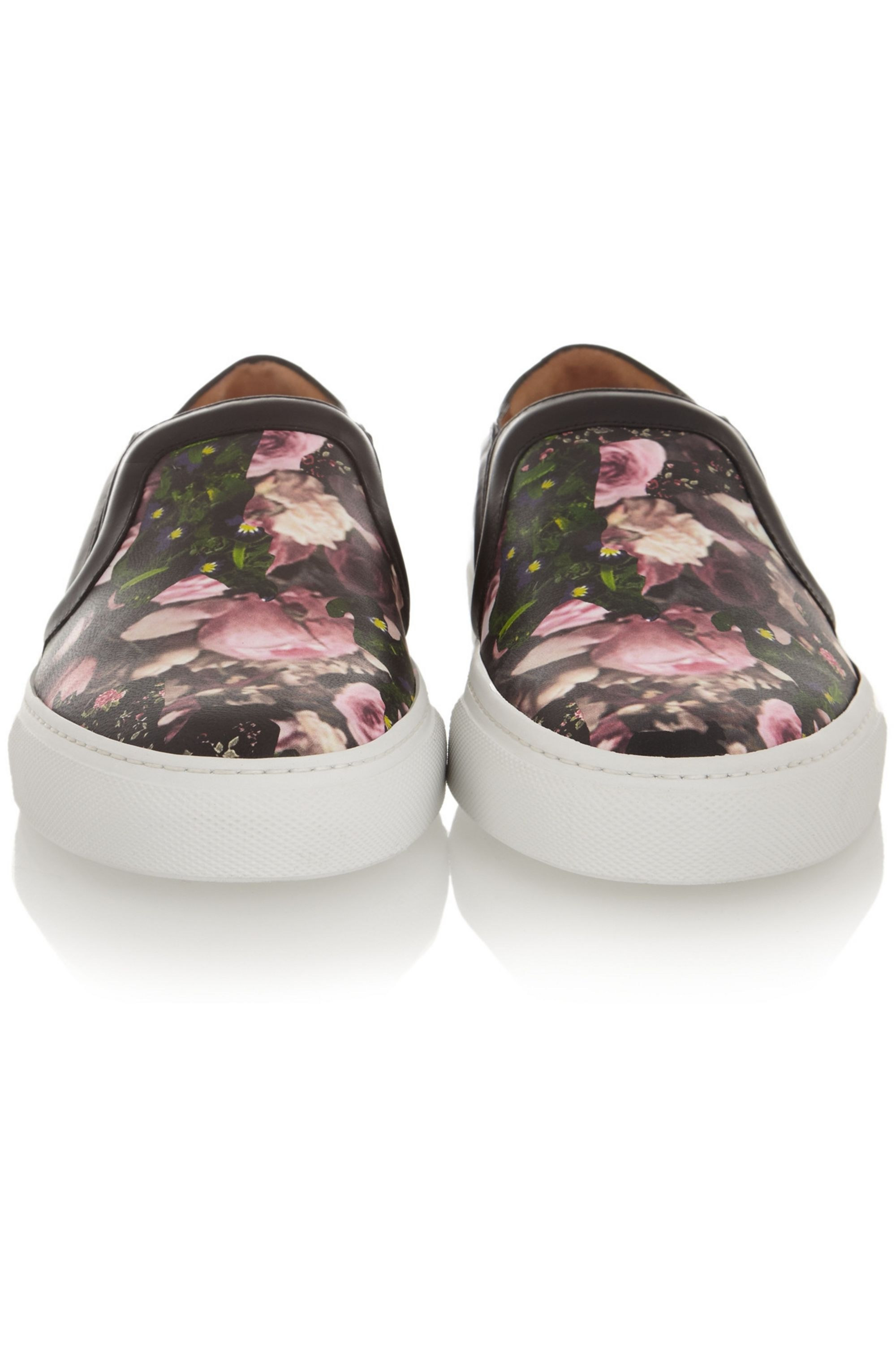 Givenchy Skate shoes in floral-print and black leather
