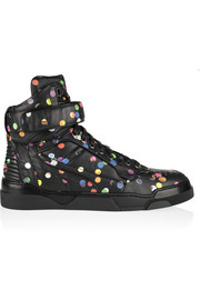 Tyson high-top sneakers in confetti-print leather