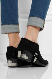 Toga Fringed suede ankle boots