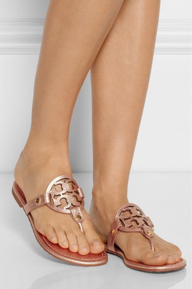 69cab7268792f2 Tory Burch. Miller metallic leather sandals