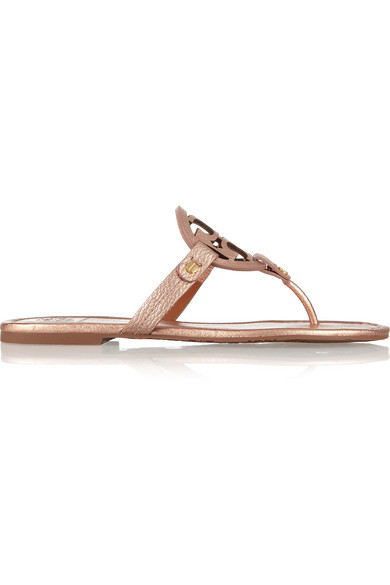 2bbba7c5e8734 Tory Burch. Miller metallic leather sandals