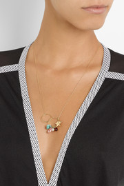 Inez and Vinoodh 18-karat gold multi-stone necklace